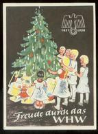 WW II WHW Spendenblatt : Adler Hakenkreuz ,Weihnachten, 1937 /1938 - Deutschland