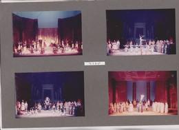4 PHOTOS SUR 1  CARTON SEMI SOUPLE , ACTEURS JOUANT  AIDA,   , THATRE DES ARTS A ROUEN En 1967 - Photographs