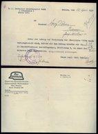 WW II Blatt Schreiben : Der Stahlhelm ,Bund Der Frontsoldaten, Bremen 1934, Gefaltet. - Briefe U. Dokumente