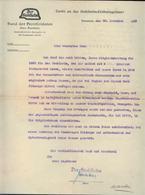 WW II Blatt Schreiben : Der Stahlhelm ,Bund Der Frontsoldaten, Bremen 1929, Gefaltet. - Germany