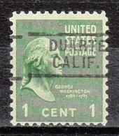 USA Precancel Vorausentwertung Preo, Locals California, Duarte 729 - Vorausentwertungen