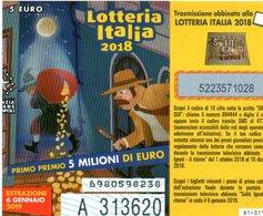Biglietto Della Lotteria Italia 2018 - Lottery Tickets