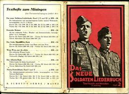Le Receuil Du Nouveau Soldat Chansons , Das Neue Soldaten Liederbuch N°2 Ww2 Allemand - 1939-45