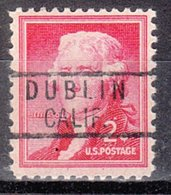 USA Precancel Vorausentwertung Preo, Locals California, Dublin 818 - Préoblitérés