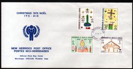 New, Nouvelles Hebrides,Noel 1979, Oblitération Anglaise - FDC