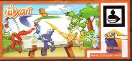 Cartina Istruzioni Kinder ' Mix Art' (Fronte E Retro) - Istruzioni