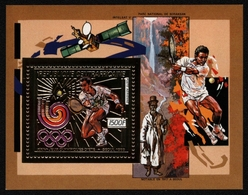 Zentralafrikanische Rep. 1988 - Mi-Nr. Block 447 A ** - MNH - Gold - Olympia - Zentralafrik. Republik