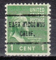 USA Precancel Vorausentwertung Preo, Locals California, East Nicolaus 713 - Préoblitérés