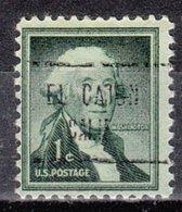 USA Precancel Vorausentwertung Preo, Locals California, El Cajon 724 - Préoblitérés