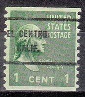 USA Precancel Vorausentwertung Preo, Bureau California, El Centro 839-61 - Préoblitérés