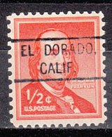 USA Precancel Vorausentwertung Preo, Locals California, El Dorado 804 - Préoblitérés