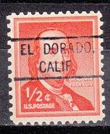 USA Precancel Vorausentwertung Preo, Locals California, El Dorado 804 - Vorausentwertungen