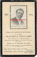 Foucart Maurice - Mainvault - Soldat 10ème Reg De Ligne - Mort Au Champ D'honneur Oud-Stuyvekenskerke 1914 - Décès