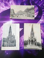 Lot 3 Cartes Postales Belge Belgique Bruxelles Anvers Laekan Postcard - Belgique