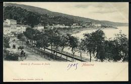 Messina - Riviera S. Francesco Di Paola - Non Viaggiata 1905 - Rif. 15701 - Messina