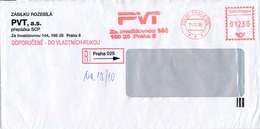 N0564 - Czech Rep. (1995) 225 00 Praha 025: PVT (= Computer Technology Company); R-letter; Tariff: 12,60 CZK - Computers