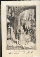 MENU DOUBLE PAGE MARIAGE 1931 TOP TOP TABLEAU ANCIEN - Menus