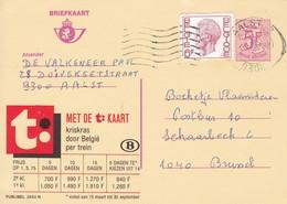 Belgie Belgique - Publibel Obl. N° 2650 N ( Met De (T:) Kaart Chemins De Fer Belge) Obl: Valmeer ( 3789) Le 24/01/1977 - Stamped Stationery