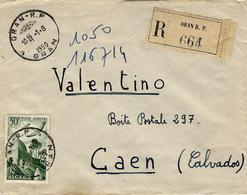 1950- Enveloppe RECC. D'ORAN   Cad Horoplan  Affr. N°9 Ae  à 50 F - Algeria (1924-1962)