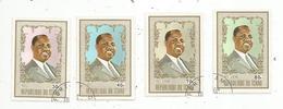 Timbre, République Du TCHAD , F. Tombalbaye(1918-1975),1er Président Tchadien 1962 , LOT DE 4 TIMBRES - Tchad (1960-...)