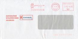 N0567 - Czech Rep. (2007) 225 00 Praha 025: Global Payments Europe (logo); R-letter; Tariff: 24,00 CZK - Usines & Industries