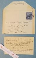 CDV 1920 Paul CAMBON Ambassadeur De France à Londres Diplomate Ambassade UK London Carte De Visite Lettre Autographe - Autographes