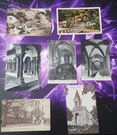 Lot 7 Cartes Postales Religion Eglise Nonne Lourdes Couvent Cloitre Postcard - Christianity