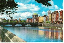 GENERAL  BRIDGE DUBLIN IRELAND  RIVER LIFFEY  LOOKING FORWARDS THE FOUR COURTS - Dublin