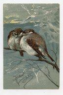 Oiseaux  Birds Vogel      Gaufré / Embossed - Oiseaux