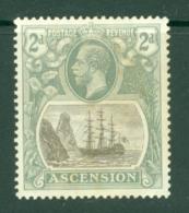Ascension: 1924/33   KGV - Badge Of St Helena    SG13    2d  MH - Ascension