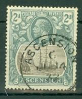 Ascension: 1924/33   KGV - Badge Of St Helena    SG13    2d   Used - Ascension