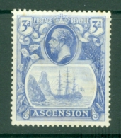 Ascension: 1924/33   KGV - Badge Of St Helena    SG14    3d  MH - Ascension