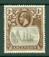 Ascension: 1924/33   KGV - Badge Of St Helena    SG18    1/-  MH - Ascension