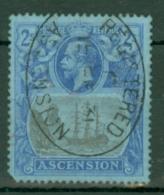 Ascension: 1924/33   KGV - Badge Of St Helena    SG19    2/-   Used - Ascension