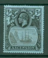 Ascension: 1924/33   KGV - Badge Of St Helena    SG20    3/-  MH - Ascension