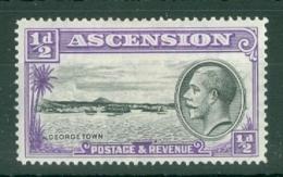 Ascension: 1934   KGV - Pictorial    SG21    ½d    MH - Ascension