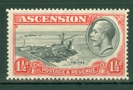 Ascension: 1934   KGV - Pictorial    SG23    1½d    MH - Ascension (Ile De L')