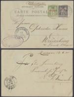 Maroc 12/06/1901 - EP 5C Surchargé +Yv Nº1 De Mazagani Vers Allemagne  (6G19465) DC1524 - Morocco (1891-1956)