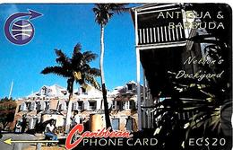 CARTE-ANTIGUA/BARBADE-ANTILLES-ECS-20$-MAGNETIQUE-NELSON DOCK-V° Sans Cadre Sans N°-BE - Antigua Et Barbuda
