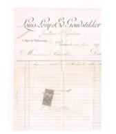 Facture.Louis Lévy & Goudstikker,Reims. - 1800 – 1899