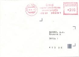 N0570 - Czech Rep. (1993) 405 01 Decin 1: Czech State Savings Bank (franking Machine, CESKOSLOVENSKO!!!) - Czech Republic