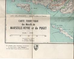 CARTE TOURISTIQUE Des Massifs De MARSEILLE-VEYRE Et Du PUGET. - Cartes