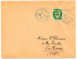 AUBE - Dépt N° 10 = TROYES 1931 = CACHET TEMPORAIRE 'FOIRE EXPOSITION' - Marcophilie (Lettres)