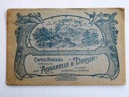 """Enveloppe Publictaire """"Cartes Postales Spéciales Pour Aquarelle & Dessin"""" à L'usage Des Artistes & Des Amateurs TONGIMED - Publicités"""