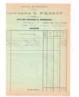 Note Des Annonces Et Impressions.Journal De Montmédy. - France