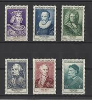 FRANCE. YT  N° 1027/1032  Neuf ** 1955 - France