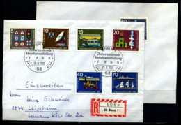 D1639)Bd FDC 468/74 Gelaufen 2 Briefe - BRD