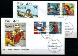 D1825)Bd FDC 1777/80, 2 Briefe - BRD