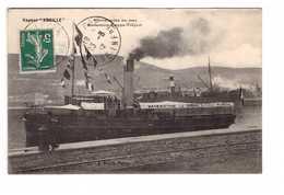 76 Bateau Vapeur Abeille Excursion Dieppe Treport  Cpa Cachet Dieppe 1912 - Dieppe