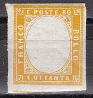 Regno Di Sardegna  - 80 Cent, Resti Di Stamperia - MNH** - Sardaigne